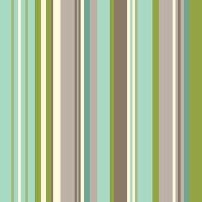 Daydreamer Stripe - Aqua & Taupe
