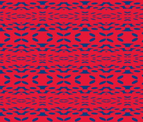 Blue is Holding it's Own against Red fabric by susaninparis on Spoonflower - custom fabric