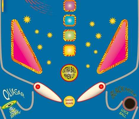 Shooting Star Pinball fabric by whatsit on Spoonflower - custom fabric