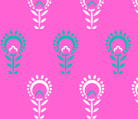 Phula (Pink) fabric by nekineko on Spoonflower - custom fabric