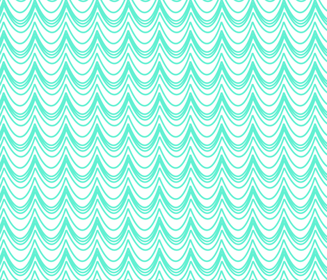 turquoise ruffles fabric by fleamarkettrixie on Spoonflower - custom fabric