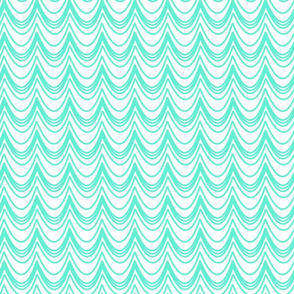 turquoise ruffles