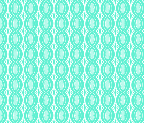 Turquoise lacy fabric by fleamarkettrixie on Spoonflower - custom fabric