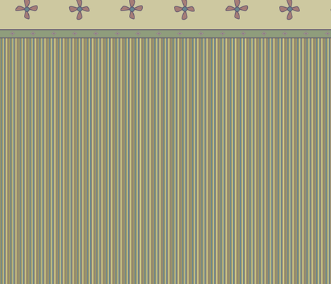 © 2011 Bird Motif - Beige and Blue fabric by glimmericks on Spoonflower - custom fabric