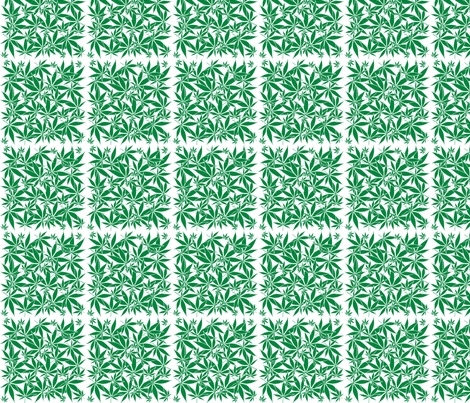 ScatteredLeaves_Cannabis_wbgFilled fabric by kstarbuck on Spoonflower - custom fabric