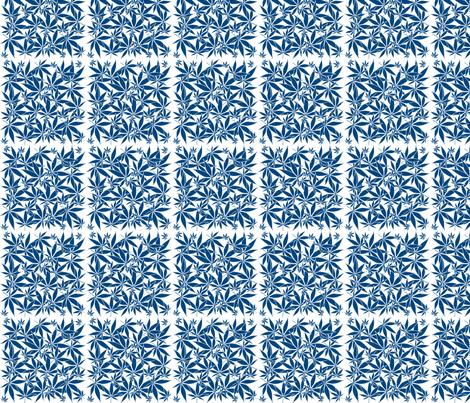 ScatteredLeaves_Cobalt_wbgFilled fabric by kstarbuck on Spoonflower - custom fabric