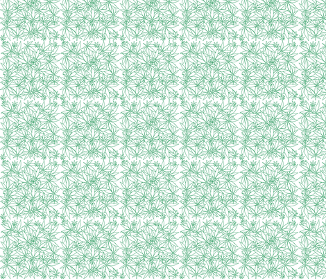 ScatteredLeaves_Cannabis_wbg fabric by kstarbuck on Spoonflower - custom fabric