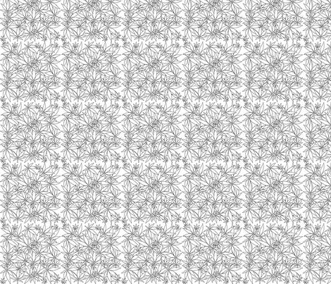 ScatteredLeaves_Onyx_wbg fabric by kstarbuck on Spoonflower - custom fabric
