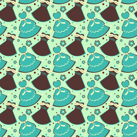 Mint Choco Fantasy fabric by eppiepeppercorn on Spoonflower - custom fabric