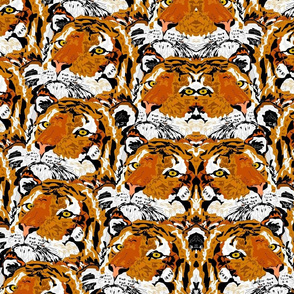 MIrrored Tiger Motif