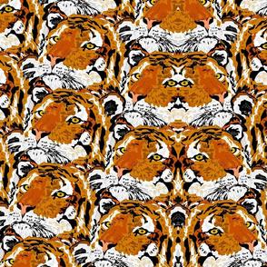 MIrrored Tiger Motif