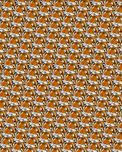 A Lot of Tigers fabric by sewbiznes on Spoonflower - custom fabric