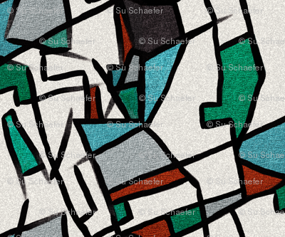 (REVISED) Cubism after Delaunay by Su_G