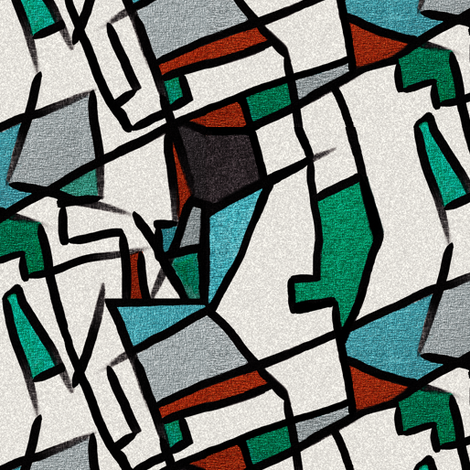 (REVISED) Cubism after Delaunay by Su_G fabric by su_g on Spoonflower - custom fabric