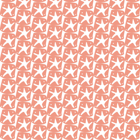 Fishy School Starfish Coordinate fabric by lulakiti on Spoonflower - custom fabric