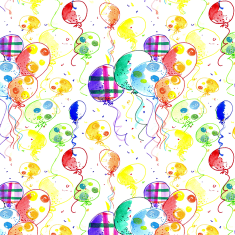 Bright Balloons fabric by countrygarden on Spoonflower - custom fabric