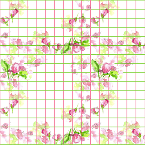 Apple Blossom Plaid fabric by countrygarden on Spoonflower - custom fabric