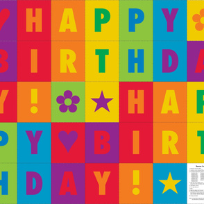 Happy Birthday! Rainbow Bunting