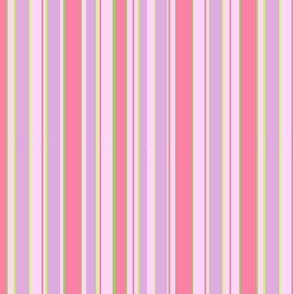 Pink Apple Blossom Stripe
