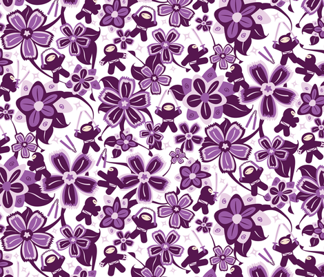 Super Purple Ninja Warriors! fabric by robyriker on Spoonflower - custom fabric