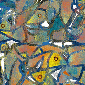 Puzzled fishes by aditi