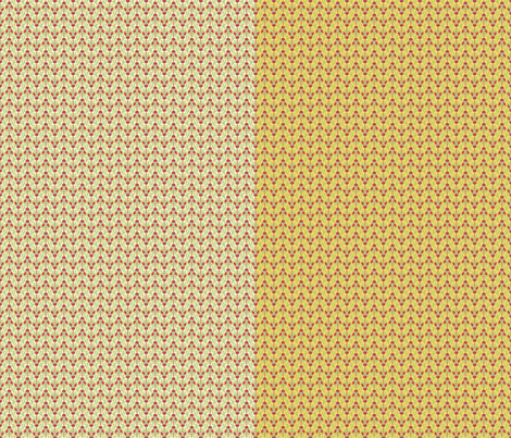 Ivory and butter spring waratah colorways in a yard by Su_G fabric by su_g on Spoonflower - custom fabric