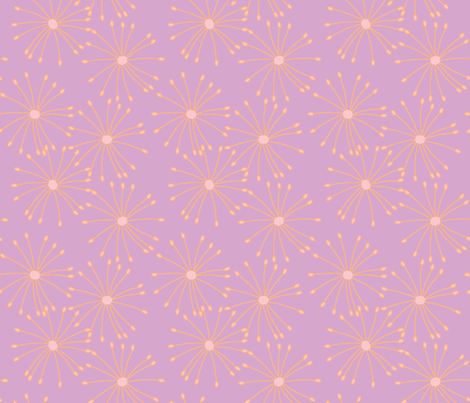 Flower bursts in purple fabric by slkanitz on Spoonflower - custom fabric