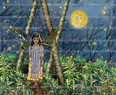 Elfling girl in the woods