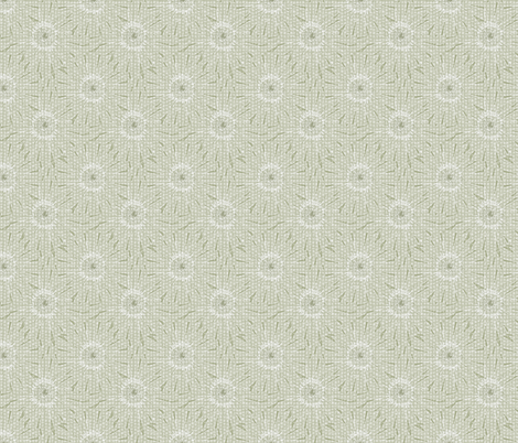 ©2011 Tiled Daisies - Seersucker Sage fabric by glimmericks on Spoonflower - custom fabric