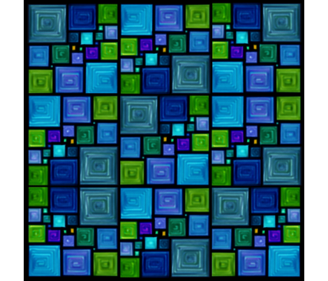 Squares in Square fabric by westofthemoon on Spoonflower - custom fabric