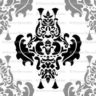 Two Toned Damask