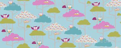 If By Air - Tree Tops, Owl - PANTONE