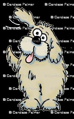 Smaller cartoon dog