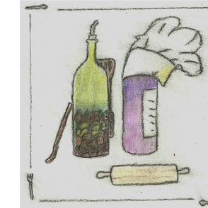 """Only the Best for You"" Custom Napkins - Crayon Drawn"