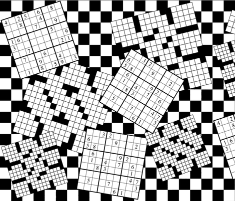 The Daily Puzzles fabric by robyriker on Spoonflower - custom fabric