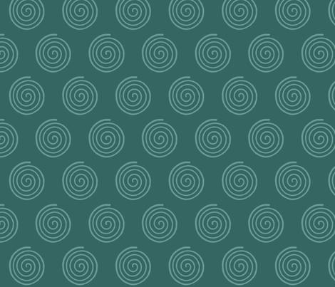 SpiritoftheSea_Spiral_DK-BLUEGREEN fabric by mina on Spoonflower - custom fabric