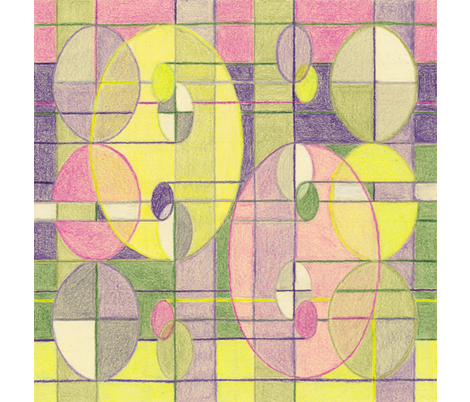 Ovals on Plaid Napkin fabric by seamingly_simple on Spoonflower - custom fabric