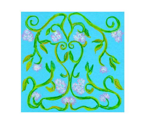 summer vines fabric by koni on Spoonflower - custom fabric