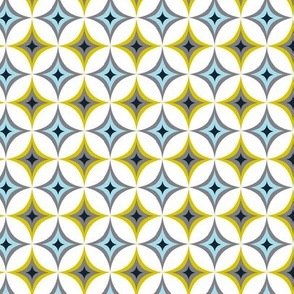Astral - Midcentury Modern Geometric Blue