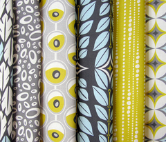 Bestrewn - Abstract Geometric Dot Stripe Yellow/Green