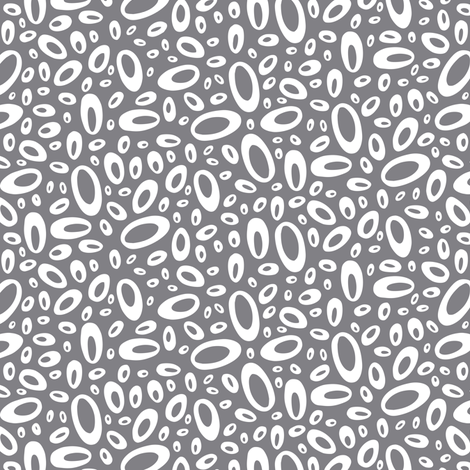 Molecular - Abstract Geometric Dot Charcoal Grey fabric by heatherdutton on Spoonflower - custom fabric