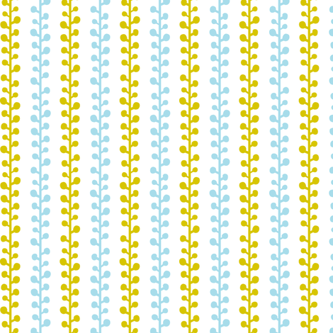 Sprig - Nature Inspired Modern Geometric Stripe fabric by heatherdutton on Spoonflower - custom fabric