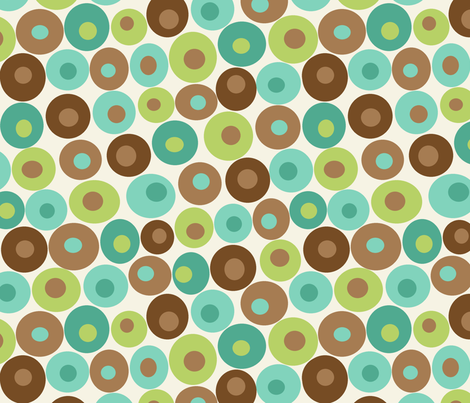 dotsy aqua fabric by littlerhodydesign on Spoonflower - custom fabric