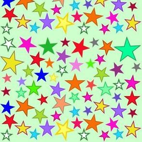 twinkle green stars