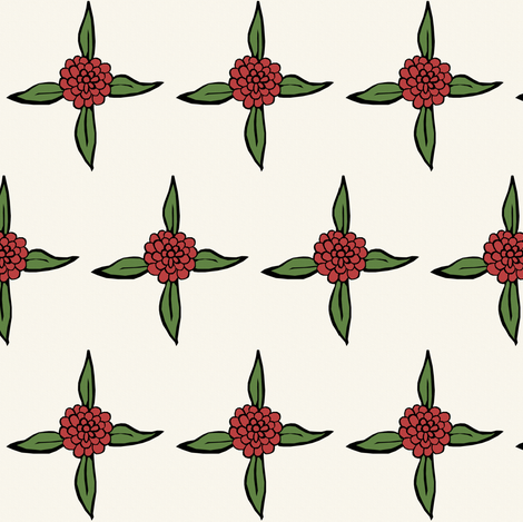 Floral Squares Coordinate fabric by pond_ripple on Spoonflower - custom fabric