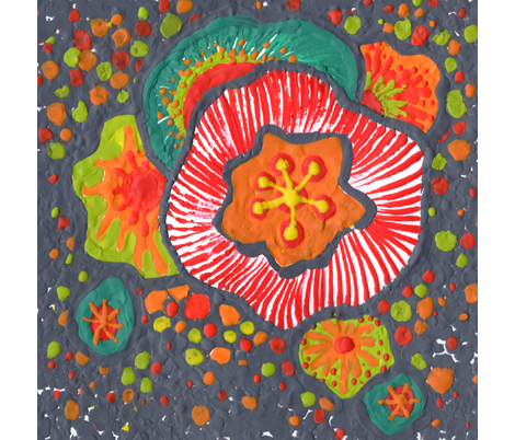 melted floral bliss ~ I fabric by cstreetstudio on Spoonflower - custom fabric