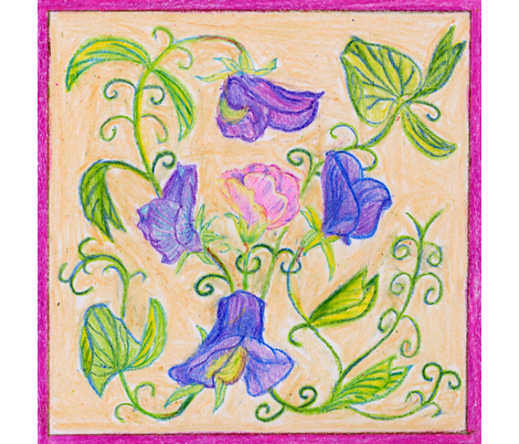 Sweet Peas fabric by lothar on Spoonflower - custom fabric