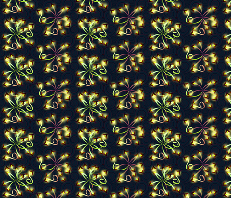 ©2011 Nature's Fireworks - 01 small fabric by glimmericks on Spoonflower - custom fabric