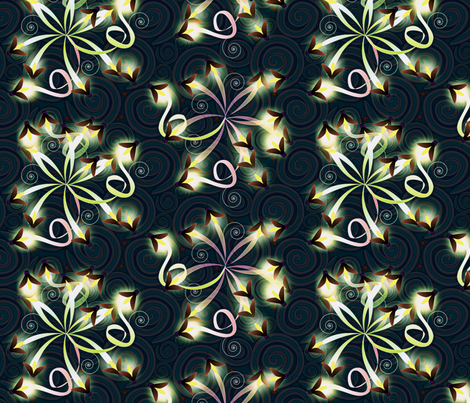 ©2011 Nature's Fireworks fabric by glimmericks on Spoonflower - custom fabric