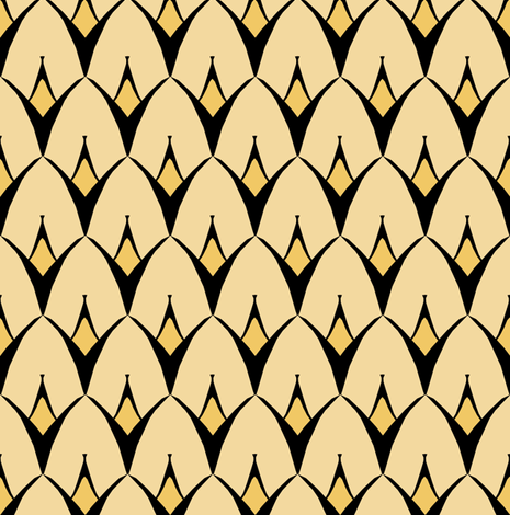 Strange Gold fabric by pond_ripple on Spoonflower - custom fabric